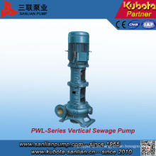 Pw Pwl Type Bomba de agua vertical para aguas residuales