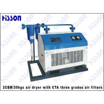 Secadora con CTA tres grados los filtros de aire de aire 1CBM/30kgs