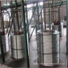 Costa de fio de aço revestida do zinco do cabo elétrico