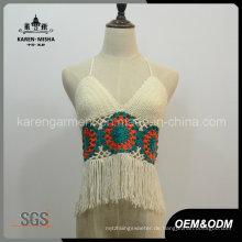 Damen Fransen Halfter Crochet Plus Size Badeanzug