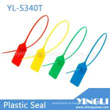 Hoja de bloqueo de metal insertada con sello de contenedor de plástico (YL-S340T)