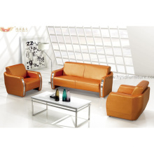Simple Design Office Furniture Leather Sofa Set for Project