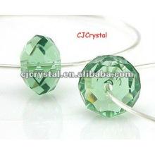 Lampadaire verre facetté rondelle perles