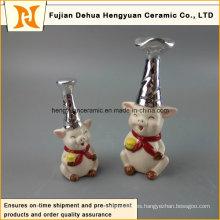 Cerdo de cerámica decorativo nuevo diseño grande blanco