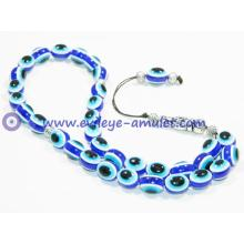 Polyester Lucky Evil Eye Prayer Beads Worry Beads Handmade