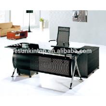 Glas-Top-Schreibtisch-Exekutive, Büromöbel für hohe Qualität zu gehen! (P8053)