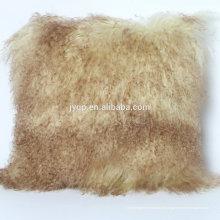 Hot vente oreiller de peau de fourrure mongole