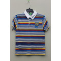 Boy's 100% Cotton Knitted Yarn Dyed Polo with Embroidery