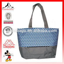Beach Tote Print Weekend Bag with Mesh Webbed Handles
