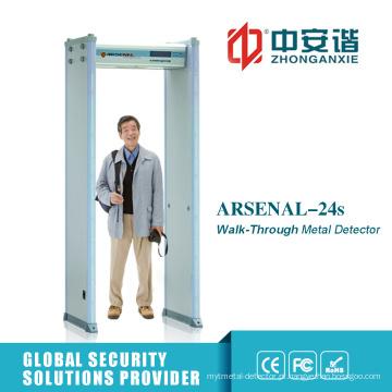 LCD Screen Instituição Financeira Guard Archway Metal Detector