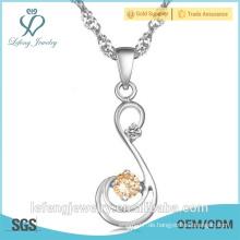 Modische Schmuck Fabrik Preis Schmuck Halskette Designs Diamant-Halskette Schmuck