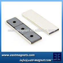 flat rectangular magnetic ferrit with holes