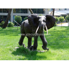 Bronze Life Size Elephant Sculpture For Sale