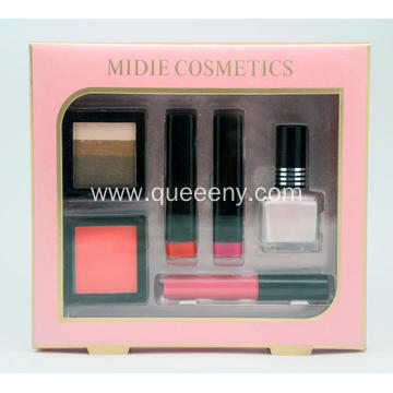 Cosmetic Set Kit Eye shadow Lipstick Nail Polish Lip Gloss