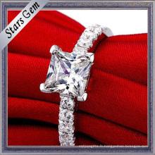 Haute qualité Argent Amoureux Romantiques Forme Anneau Mariage Jewellry