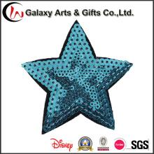 Bordado apliques de lentejuelas decorativas de colores patrón de estrella para ropa