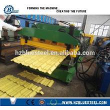 Automatische hydraulische Metall Stahl Dachziegel Maschine, glasierte Fliesen Roll Forming Machine Preis