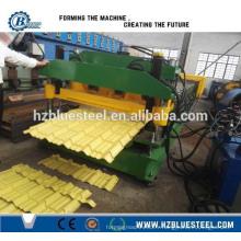 Machine automatique de fabrication de carreaux de toit métallique en métal hydraulique, machine à former des rouleaux de carreaux glacés Prix