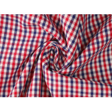 Control rojo/azul marino Sarga camisas de tejido de poliéster de algodón 40 60