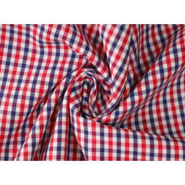 Rot/Navy Kontrollen Köper 60 Baumwolle 40 Polyester-Gewebe Shirting