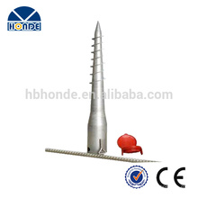 Quality-assured customized made galvanized ground screw anchor for garden fence