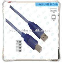 Hi-Speed USB 2.0 Blue Cable Cable de impresora Usb 10 metros