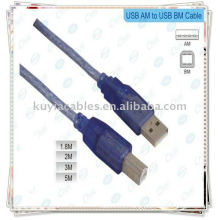 Hi-Speed USB 2.0 Blue Cable Usb printer cable 10meter