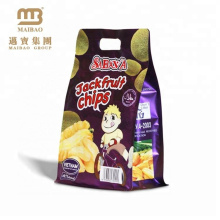 Custom Printed Block Bottom Stand Up Food Grade Package Aluminum Foil Laminated Dry Fruit Plastic Packaging Bags