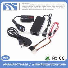 """USB3.0 zu IDE / SATA Konverter Adapter für 2,5 """"/ 3,5"""" Festplatte mit OTB"""