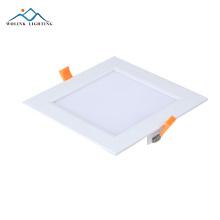 Ip55 standard rechargeable d'urgence tailles carré led panneau lumineux 6w