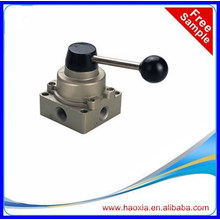 "Manufactory in China pneumatic hand valve HV-03 1/4"" BSPP hand switching valve"