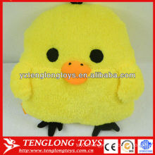 funny yellow chicken shaped plush pillow for hand warmer