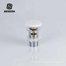toilet brass water drain plug with ceramic cap