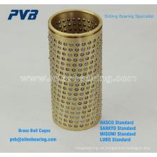Retenedores de bolas de la serie FZ Casquillos de jaula de bolas, 206.71.063.095 Cojinetes de retención de bola, jaulas de plástico para rodamientos para moldes.