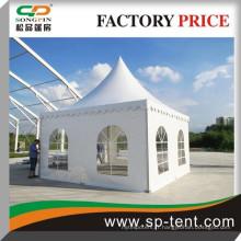 Tentes de pagodes de pvc de haute pointe 5x5m avec tissu imperméable et ignifuge pour les événements commerciaux