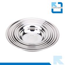 Mulit-Size Edelstahl Dinner Plate, Runde Platte / No Spill Bowl