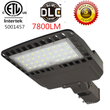 ETL listed 60w led shoe box light 7800lm