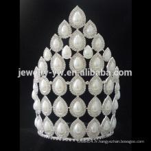Vente en gros Tiaras de perles de haute qualité Tiara de mariage de perles