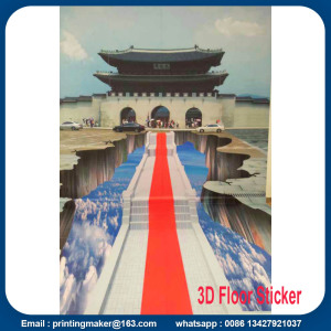 Large 3d Floor Stickers with Custom Graphic Printing