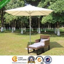 6 Fuß Aluminium Terrasse Sonnenschirm für Garten (PU-2020A)