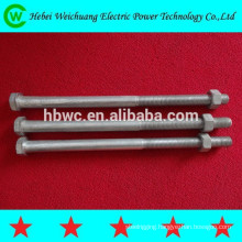 Galvanized steel electrical bolt/power bolt/power fastener/line hardware/power fitting