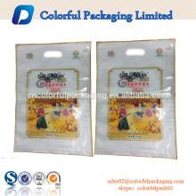 Tamaño de la bolsa de arroz personalizado 1 kg 5 kg 10 kg / arroz empaquetar la bolsa de plástico de nylon