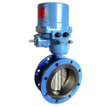 Concentric Flanged Vulcanized Butterfly Valve with Electric Operator