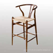New Design Bar Chair with Solid Wood Legs