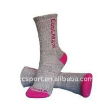 100% coton biologique chaussettes de randonnée tricotées