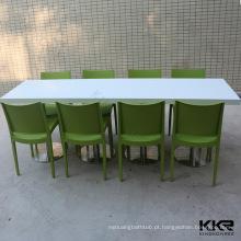 mesas de jantar de vários tamanhos para 8/6/4/2 pessoas superfície sólida