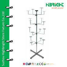 Adjustable rotating hat display rack