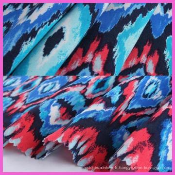 2016 textile en gros de polyester rayonne spandex tissu pour la couture
