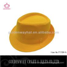 new Designer yellow fedora hat