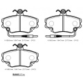 Disc Brake System Rear Ceramic Brake Pads for Mazda 626 / GE, MX-6 G5Y6-26-48ZA, G5Y6-26-48Z